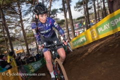 Nikki Brammeir pictured in action on the racetrack of Heusden-Zolder
