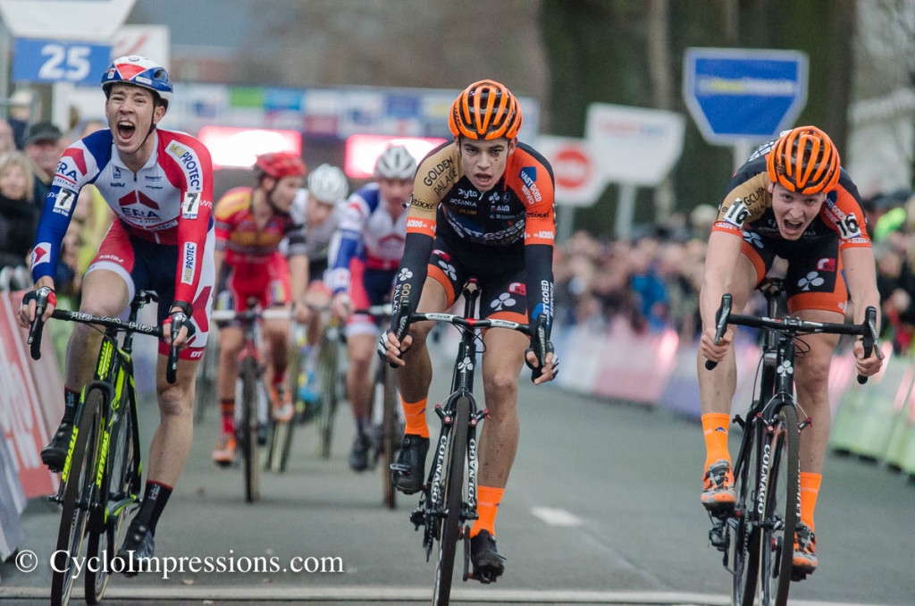 Thrilling sprint for second place in Loenhout