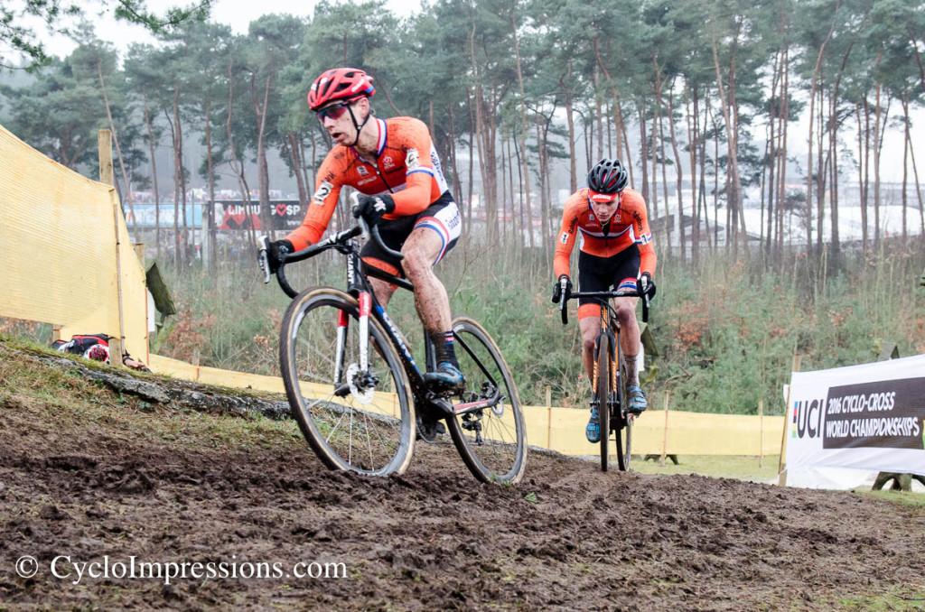 WK Zolder Elite: Lars van der Haar en Mathieu van der Poel